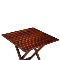 Handcrafted Solid Wood Square Folding Restaurant Table