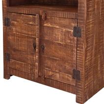 Morgantown 3 Open Shelf Rustic Solid Wood Bookcase Hutch