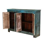 Pennsboro Distressed Reclaimed Wood 4 Door Rustic Storage Cabinet