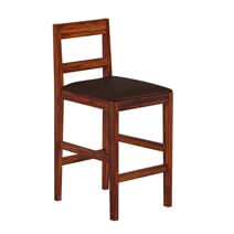 Lincoln Classic Solid Wood Upholstered Bar Chair (Set of 2)