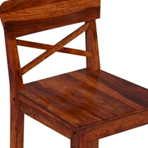 Dallas Ranch Solid Wood Tall Rustic Bar Chair (Set of 2)