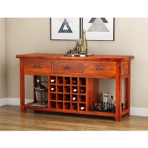 Chantilly Rosewood 3 Drawer Wine Bottle Storage Equipped Sideboard