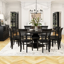 Sierra Nevada Solid Wood 13 Piece Round Dining Room Set