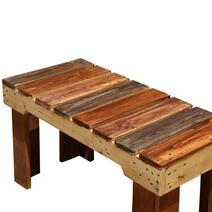 Modern Pioneer Rustic Handmade Patio Table Bench