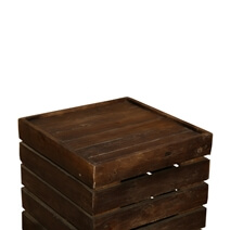 "Modern Pioneer Mango Wood 18"" Square Rustic End Table"