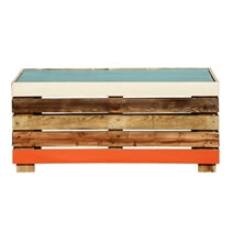 Modern Rustic Multi-Color Mango Wood Box Style Coffee Table