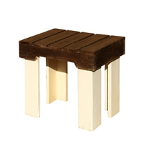 Modern Rustic Pallet Wood White & Brown Stool