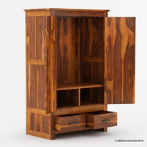 Santa Barbara Solid Wood Large Bedroom Armoire Wardrobe With Drawers