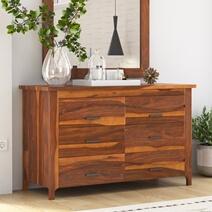 Santa Barbara Solid Wood 6 Drawer Bedroom Double Dresser