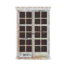 Tucson Rainbow Rustic Reclaimed Wood Glass Door Display Cabinet