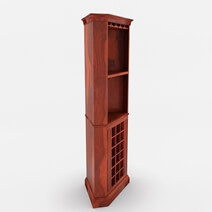 Louis Rustic Solid Wood Corner Bar Cabinet