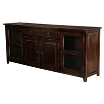 Alistar Solid Wood Glass Door Large Buffet Cabinet