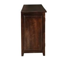 Alistar Solid Wood Glass Door Large Buffet Cabinet