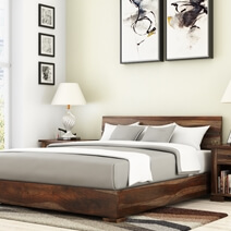 Athena Handcrafted Solid Wood Platform Bed