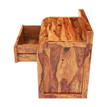 Rebecca Solid Wood Single Drawer Open Storage Nightstand