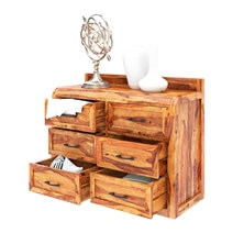 Rebecca Solid Wood 6 Drawer Bedroom Double Dresser