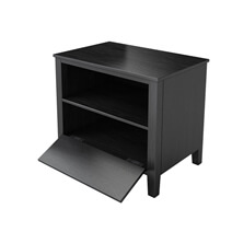 Modern Midnight Solid Wood Nightstand with Storage