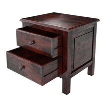 Delphi Modern Handcrafted Solid Wood 2 Drawer Nightstand