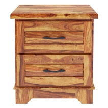 Colonial Rail Top Solid Wood Nightstand with Drawer