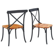 Texas Industrial Handmade Rustic Solid Wood Dining Table & Chair Set