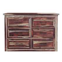 Jamaica Handcrafted Solid Wood 6 Drawer Double Dresser