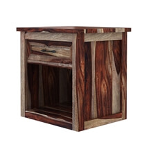 Jamaica Handcrafted Rustic Solid Wood 1 Drawer Nightstand