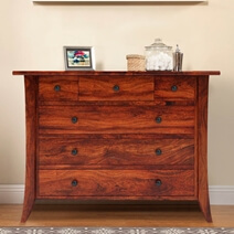 Georgia Rustic Solid Wood 6 Drawer Bedroom Dresser