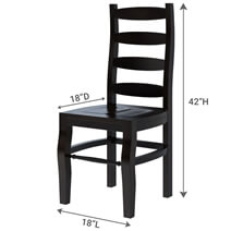 Texas Handcrafted Mango Wood Ladder Back Dining Chair