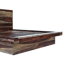 Virginia Modern Handcrafted Solid Wood Platform Bed