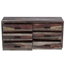Virginia Modern Handcrafted 6 Drawer Double Dresser