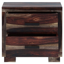 Virginia Modern Handcrafted Solid Wood 2 Drawer Nightstand