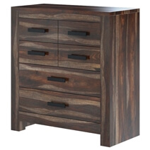 Roanoke Rustic Solid Rose Wood 6 Drawer Modern Bedroom Dresser