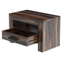 Roanoke Rustic Solid Wood One Drawer Nightstand