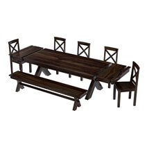Westside Rosewood 8 Piece Extensions Dining Room Set
