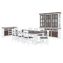 Danville Teak Mahogany Wood 11 Piece Dining Room Set