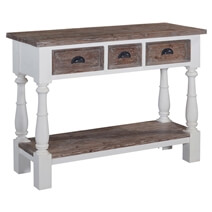 Oregon Graceful Handcrafted Teak Wood & Solid Wood Console Table