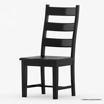Nottingham Chic Black Ladder Back Mango Wood Dining Chair