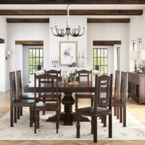 Florida Handcrafted Solid Wood Dining Room Set