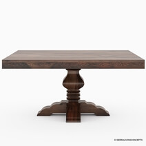Florida Handcrafted Traditional Rosewood Square Dining Table & Chairs