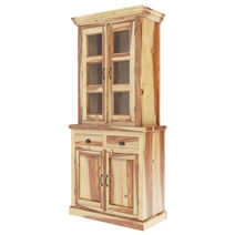 Ostrander Rustic Solid Rosewood Tall Dining Room Hutch