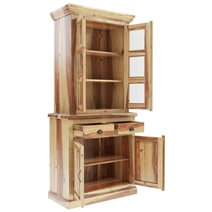 Ostrander Rustic Solid Rosewood Small Dining Room Hutch