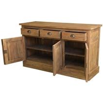 Heurich Traditional Reclaimed Teak Wood 3 Drawer Large Sideboard