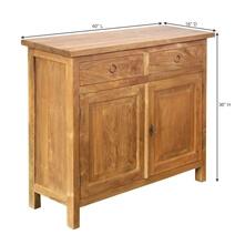 Hampton Classic Reclaimed Teak Wood 2 Drawer Rustic Buffet Cabinet