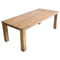Yonkers Handcrafted Recycled Teak Wood Rectangle Dining Table