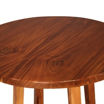 Oria Stylish Suar Wood Counter Height Round Restaurant Table