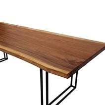 Large Single Slab Solid Wood Jefferson Live Edge Dining Table