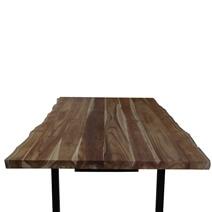 Copenhagen Teak Wood Live Edge Large Dining Table