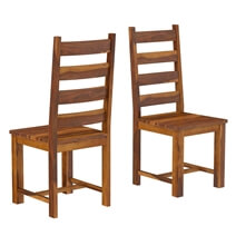 Cloverdale Rustic Solid Wood Round Dining Table Chair Set