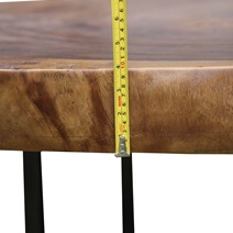 Natural Tree Stump Live Edge Coffee Table Made of Real Wood