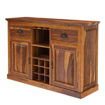 Cariboo Contemporary Rustic Solid Wood Dining Room Set